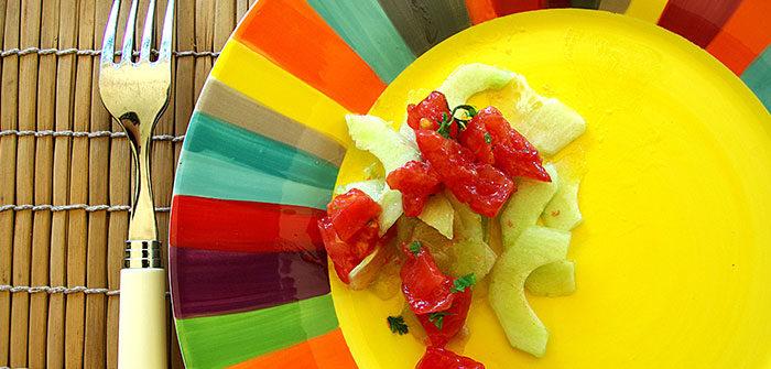 la couleur des assiettes