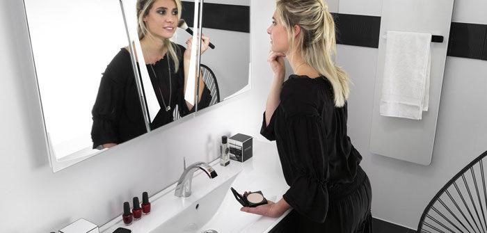 miroir lumineux de maquillage